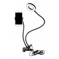 Лампа LED на прищепке с гибким держателем для телефона Professional Live Stream