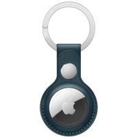 Чехол AirTag Leather Key Ring Baltic Blue