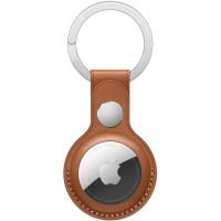 Чехол AirTag Leather Key Ring Saddle Brown