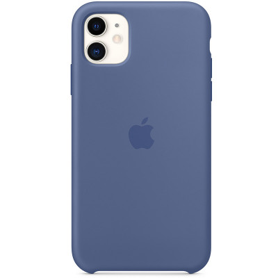 Apple Silicon Case iPhone 11 Linen Blue (HC)