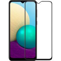 Защитное стекло Samsung A02 5D Black (Полный клей)