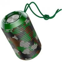 Акустика HOCO Trendy sound sports wireless speaker IPX5 HC1  BT, TWS, AUX, FM, TF, USB  Camouflage-Green