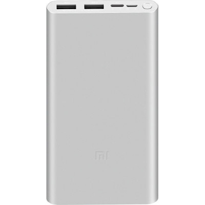 Xiaomi Mi Power Bank 3 10000 mAh (2USB+Type-C) PLM13ZM Silver (VXN4259CN)