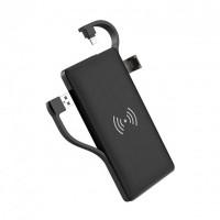 Портативный аккумулятор Hoco S10 10000mAh Black (1USB/1Type-C, PD/QC, Lightning cable) с беспроводной зарядкой