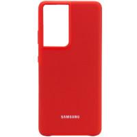 Чехол Silicone Cover для Samsung Galaxy S21 Ultra Red
