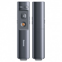 Беспроводкая указка-презентер BASEUS Orange Dot Wireless Presenter (Red Laser) |100m, USB/Type-C Receiver|