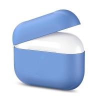 Силиконовый кейс для AirPods Pro Blue (без карабина)