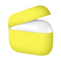 Силиконовый кейс для AirPods Pro Yellow (без карабина)