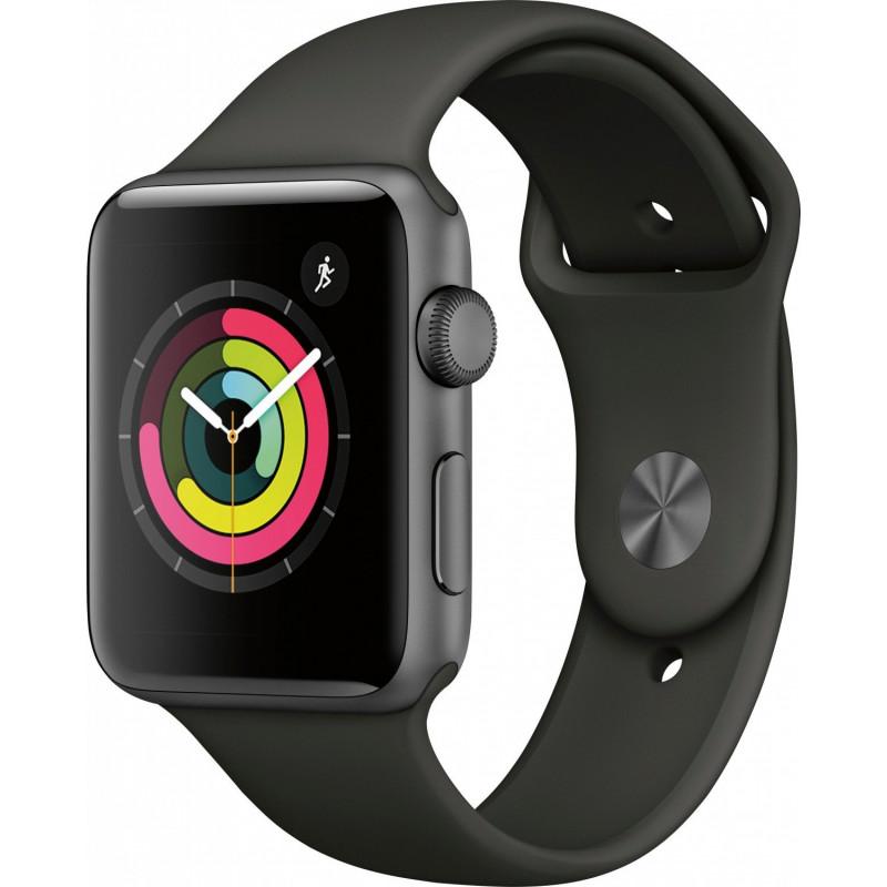 Apple Watch Series 3 (GPS) 42mm Space Gray Aluminum Black Sport (MTF32)
