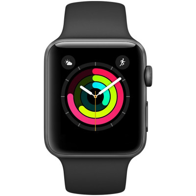 Apple Watch Series 3 (GPS) 38mm Space Gray Aluminum Black Sport (MTF02)