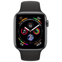 Apple Watch Series 4 (GPS) 44mm Space Gray Aluminum Case with Black Sport Band (MU6D2)