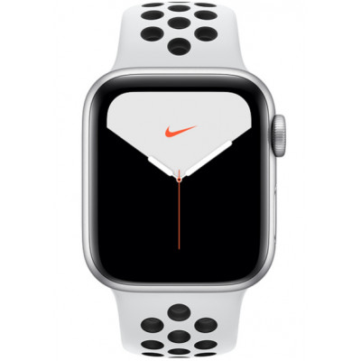 Apple Watch Nike Series 5 (GPS) 40mm Silver Aluminium Case with Pure Platinum/Black Nike Sport Band (MX3R2)