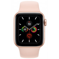Apple Watch Series 5 (GPS) 44mm Gold Aluminium Case with Pink Sand Sport Band (MWVE2)