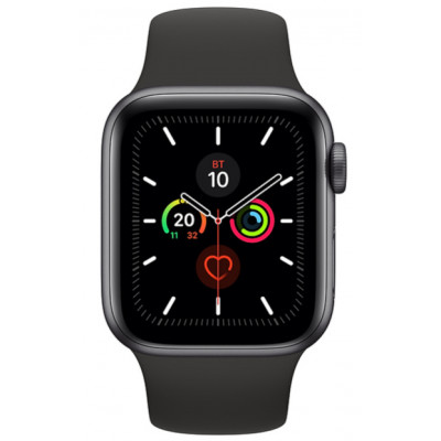 Apple Watch Series 5 (GPS) 44mm Space Grey Aluminium Case with Black Sport Band (MWVF2)