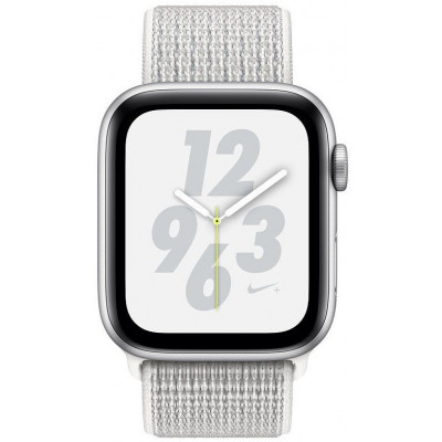 Apple Watch Nike+ Series 4 (GPS) 40mm Silver Aluminum Case with Pure Summit White Nike Sport  Loop (MU7F2)