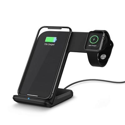 Беспроводная докстанция Dock iPhone + iWatch Black