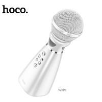 Караоке микрофон HOCO Hi-song K song microphone BK6 White