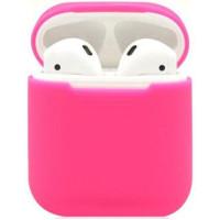 Чехол Silicone Case Apple AirPods Pink (яркий)