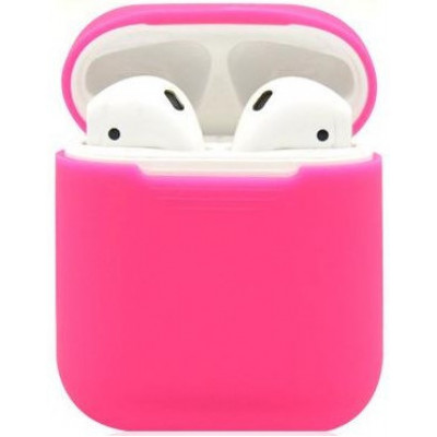 Чехол Silicone Case Apple AirPods Pink (яркий)