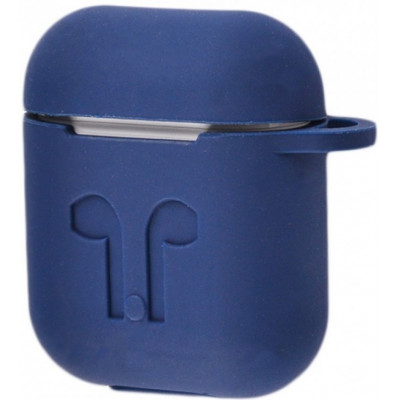 Чехол Silicone Case Apple AirPods Mignight Blue + Карабин