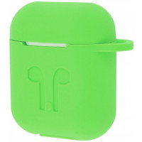 Чехол Silicone Case Apple AirPods Green Ligth + Карабин