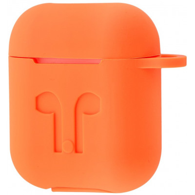 Чехол Silicone Case Apple AirPods Orange + Карабин
