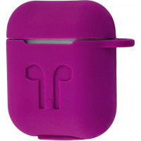 Чехол Silicone Case Apple AirPods Purple + Карабин