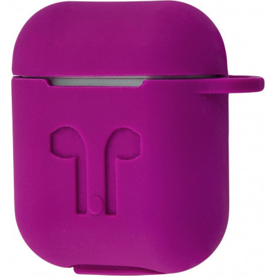 Чехол Silicone Case Apple AirPods Purple + Карабин