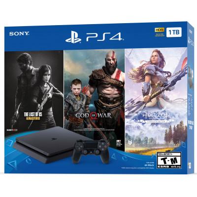 Sony PlayStation 4 Slim (PS4 Slim) 1TB Black + 3игры