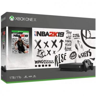 Microsoft Xbox One X 1TB Black + NBA 2k19