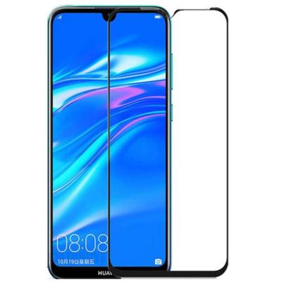 Защитное стекло Huawei Y7 2019 5D Black (Полный клей)