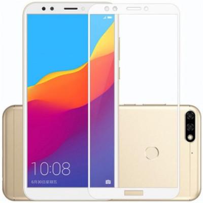 Защитное стекло Huawei Y6 2018 5D White (Полный клей)