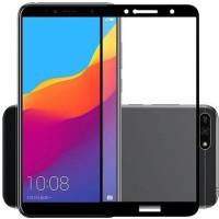 Защитное стекло Huawei Y6 2018 5D Black (Полный клей)