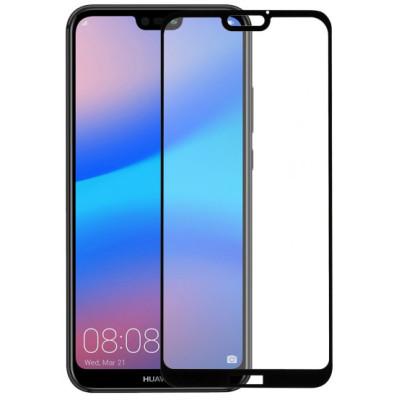 Защитное стекло Huawei P20 Lite 5D Black (Полный клей)