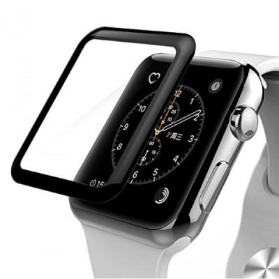 Защитное стекло Apple Watch 38mm 5D (Полный клей)