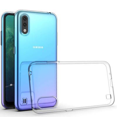 Силиконовый чехол Samsung Galaxy A01 Прозрачный
