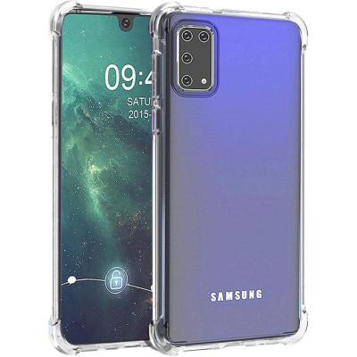 Силиконовый чехол Samsung Galaxy A41 Усиленный (Прозрачный)