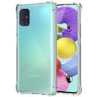 Силиконовый чехол Samsung Galaxy A31 Усиленный (Прозрачный)
