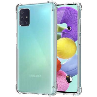 Силиконовый чехол Samsung Galaxy A31 Усиленный (Прозрачны)