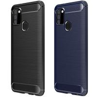 Силиконовый чехол Samsung Galaxy A21s Carbon