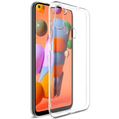 Силиконовый чехол Samsung Galaxy A11 Прозрачный