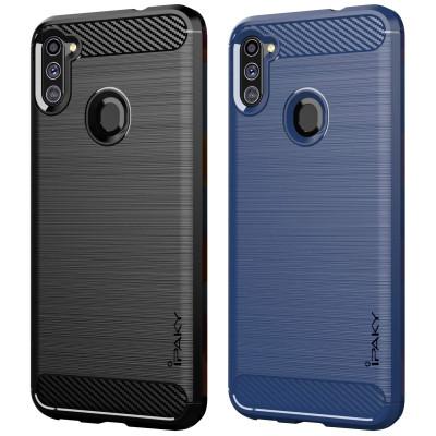 Силиконовый чехол Samsung Galaxy A11 Carbon