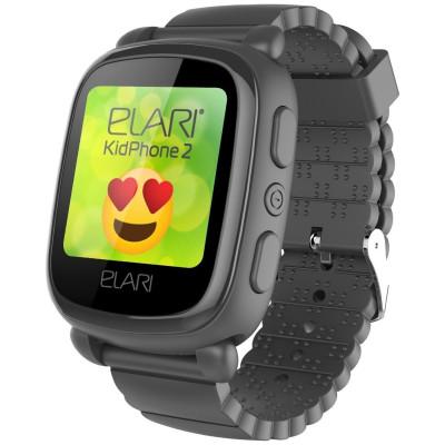 Детский телефон-часы с GPS трекером Elari KidPhone 2 Black (KP-2B)