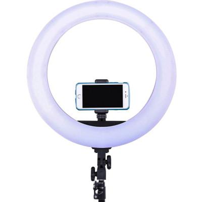 Кольцевая LED лампа 35см 55 Вт, с держателем для смартфона