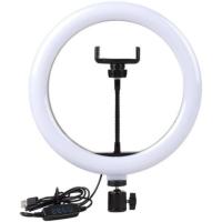 Кольцевая LED лампа 33см, с держателем для смартфона