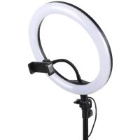 Кольцевая LED лампа ZD666 B ( EL-82 ) 26 см, с держателем для смартфона