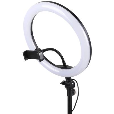 Кольцевая LED лампа 26 см, с держателем для смартфона