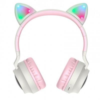 Беспроводные наушники HOCO Cheerful Cat ear W27 Grey