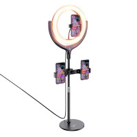 Держатель с кольцевым освещением HOCO Rouge Вesktop Fill Light Live Broadcast stand LV01