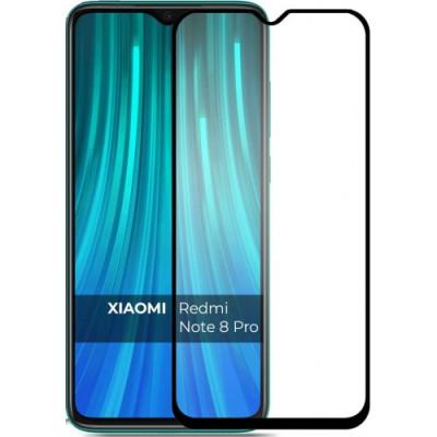 Защитное стекло Redmi Note 8 Pro 5D Black (полный клей)